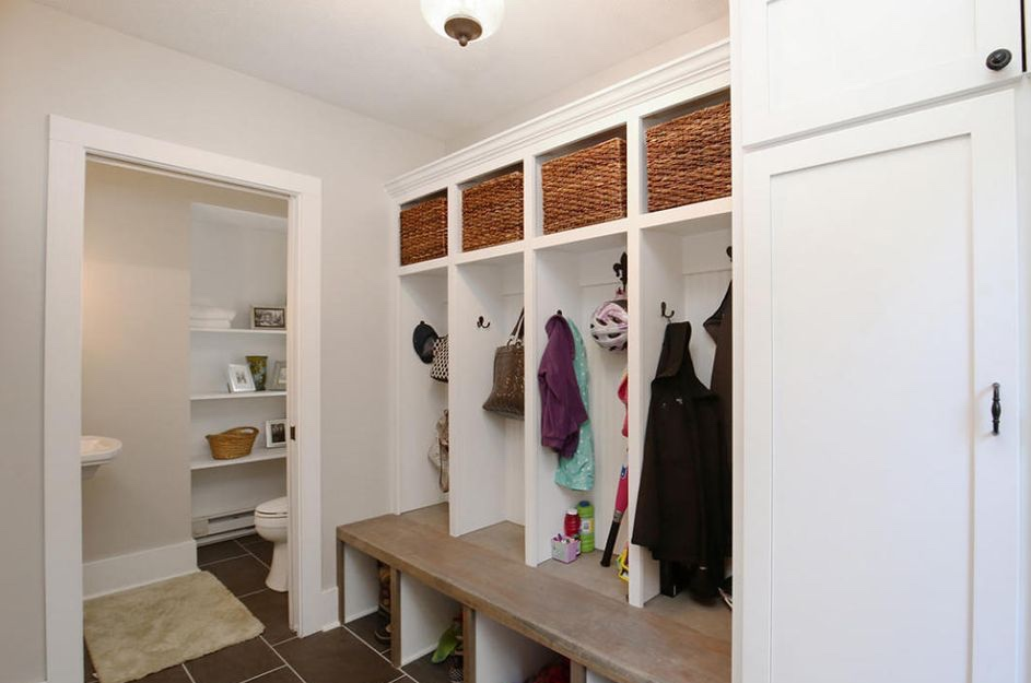 custom farmhouse mudroom