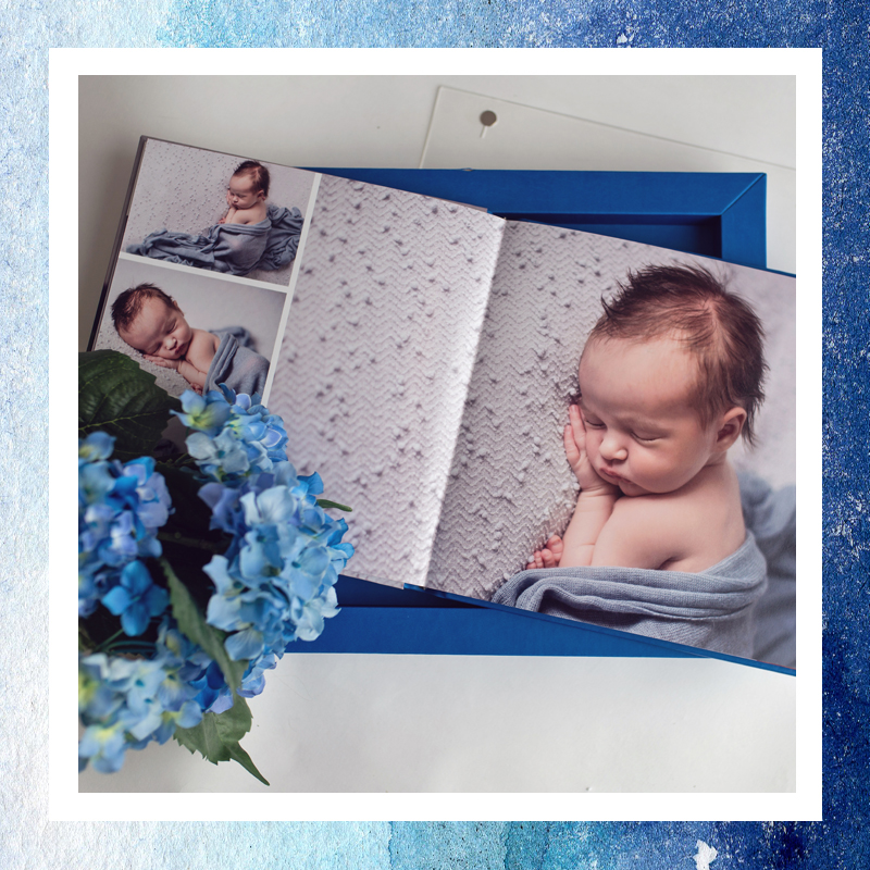 FOR YOUR TABLE - Albums and our wooden box with matted prints are a great way to treasure your baby bump or those tiny toes. We offer two album lines including full color covers on deep matte photo papers. They can also be covered in leather or linens, we will work with you to find a match that best showcases your portraits.