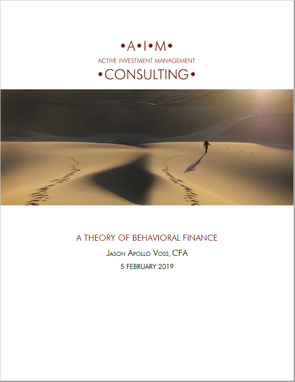 A THEORY OF BEHAVIORAL FINANCE - A criticism of behavioral finance is that it lacks an overarching theory. Namely, that it is just a long list of logged and recorded behavioral biases. This paper seeks to rectify this situation and to have it replace the failed paradigm of Modern Portfolio Theory (MPT).