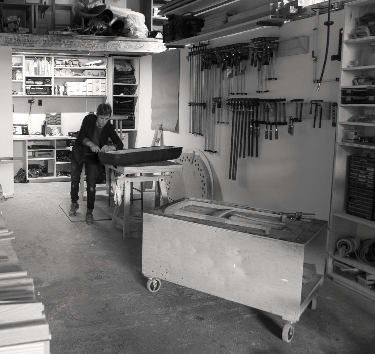 Jake Whillans, in his studio.