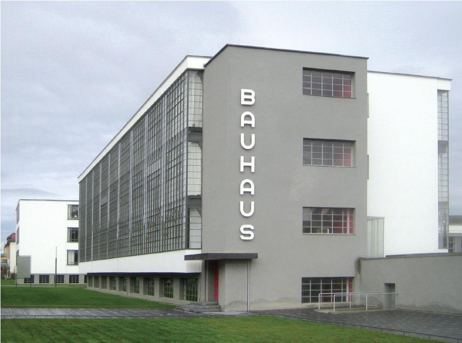 Walter Gropius , Bauhaus Dessau. Opened on December 4, 1926. PHOTO STEFAN OEMISCH