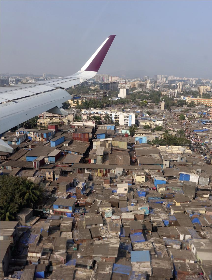 Flying over the city of Mumbai, India. Photo Christine Pemberton