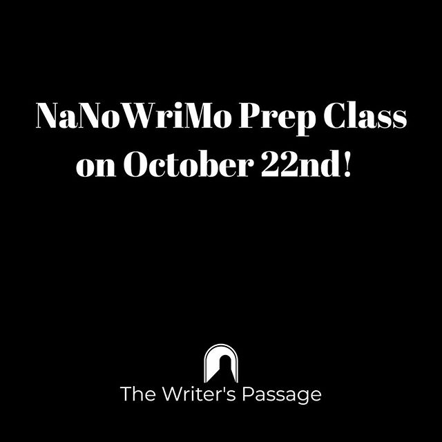 Come join us The Writer's Passage and get an early start on NaNoWriMo by learning how to plot your novel.  Registration link in bio.