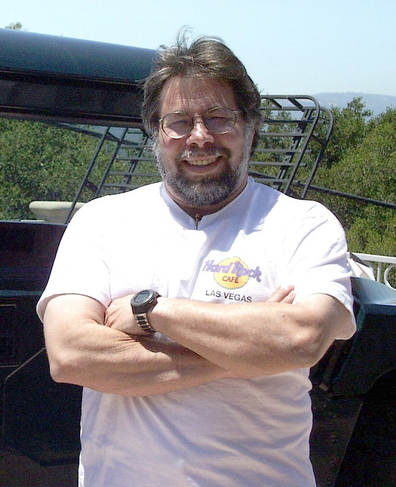 Steve Wozniak, el famoso cofundador y creador de las computadoras Apple I y Apple II.