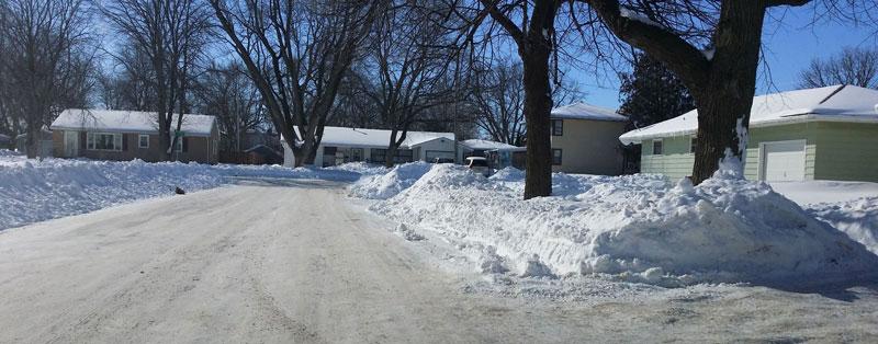 Así estuvieron las calles de Storm Lake después de la última gran nevada que provocó inundaciones en algunos hogares y calles.