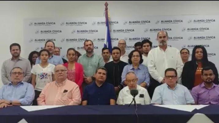 La Alianza Cívica por Nicaragua, grupo de organizaciones que buscan a través del dialogo, terminar con la dictadura de Daniel Ortega. (Foto tomada de redes sociales)