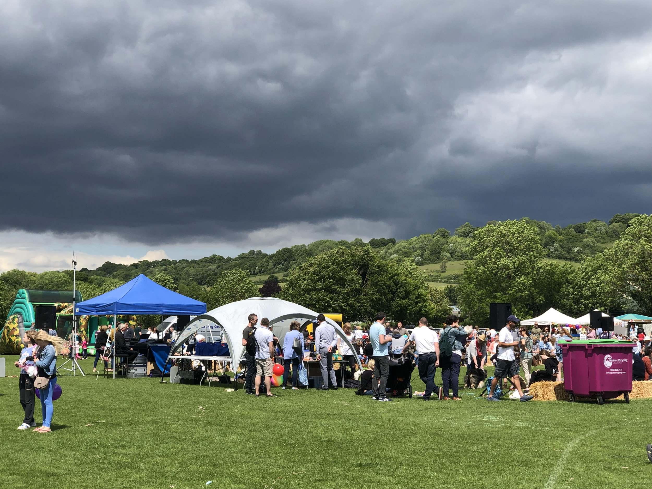 dramatic clouds over the fete but no rain.jpeg