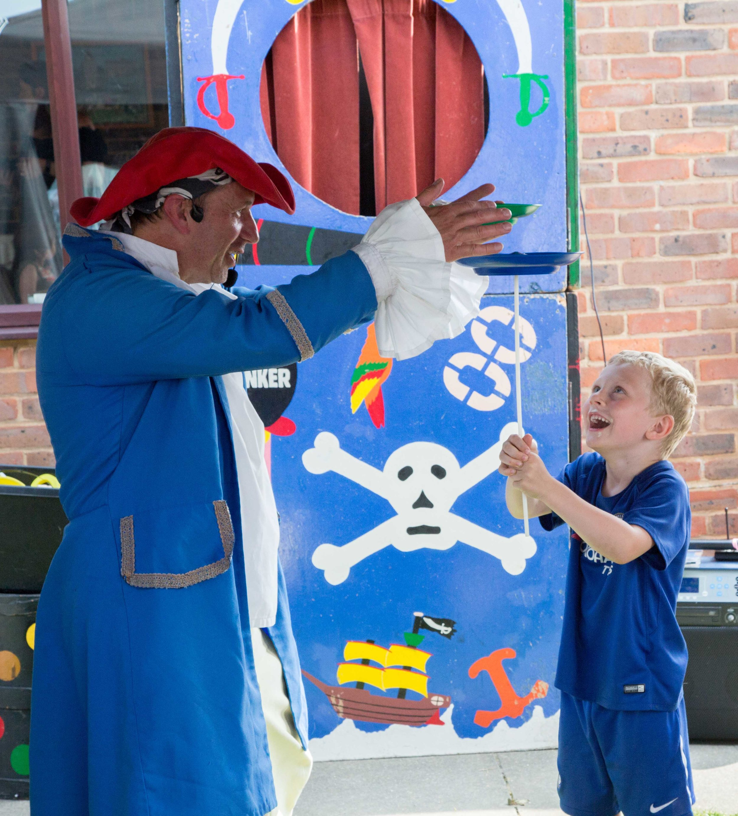 child taking part in the pirate show.JPG