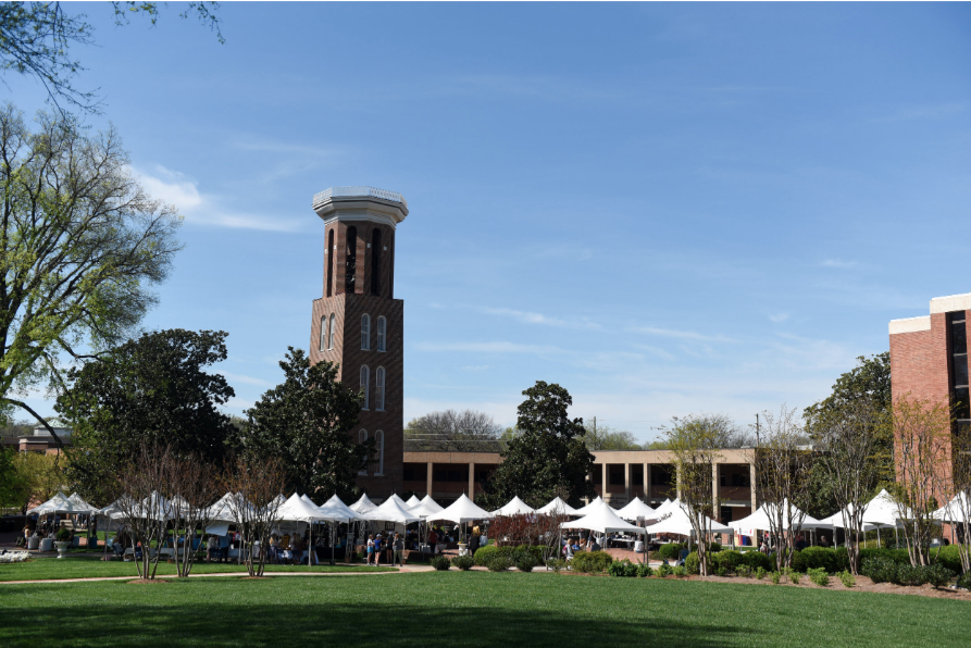 Entrepreneurship Village - The Fifth Annual Entrepreneurship Village took place at the Bell Tower this year and featured 32 student and alumni businesses. Entrepreneurs shared their ideas, talked with customers, and sold products ranging from peanut brittle to coloring books!