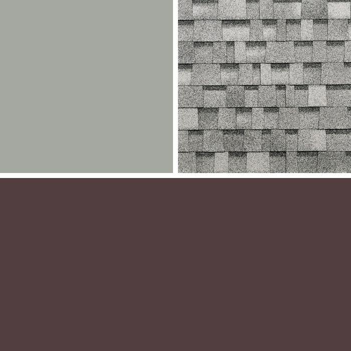 Gap Gray, Sierra Gray & Burgundy