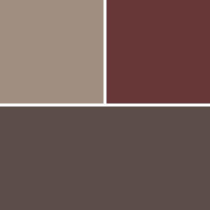 Buckskin, Jamestown Red & Charcoal Brown