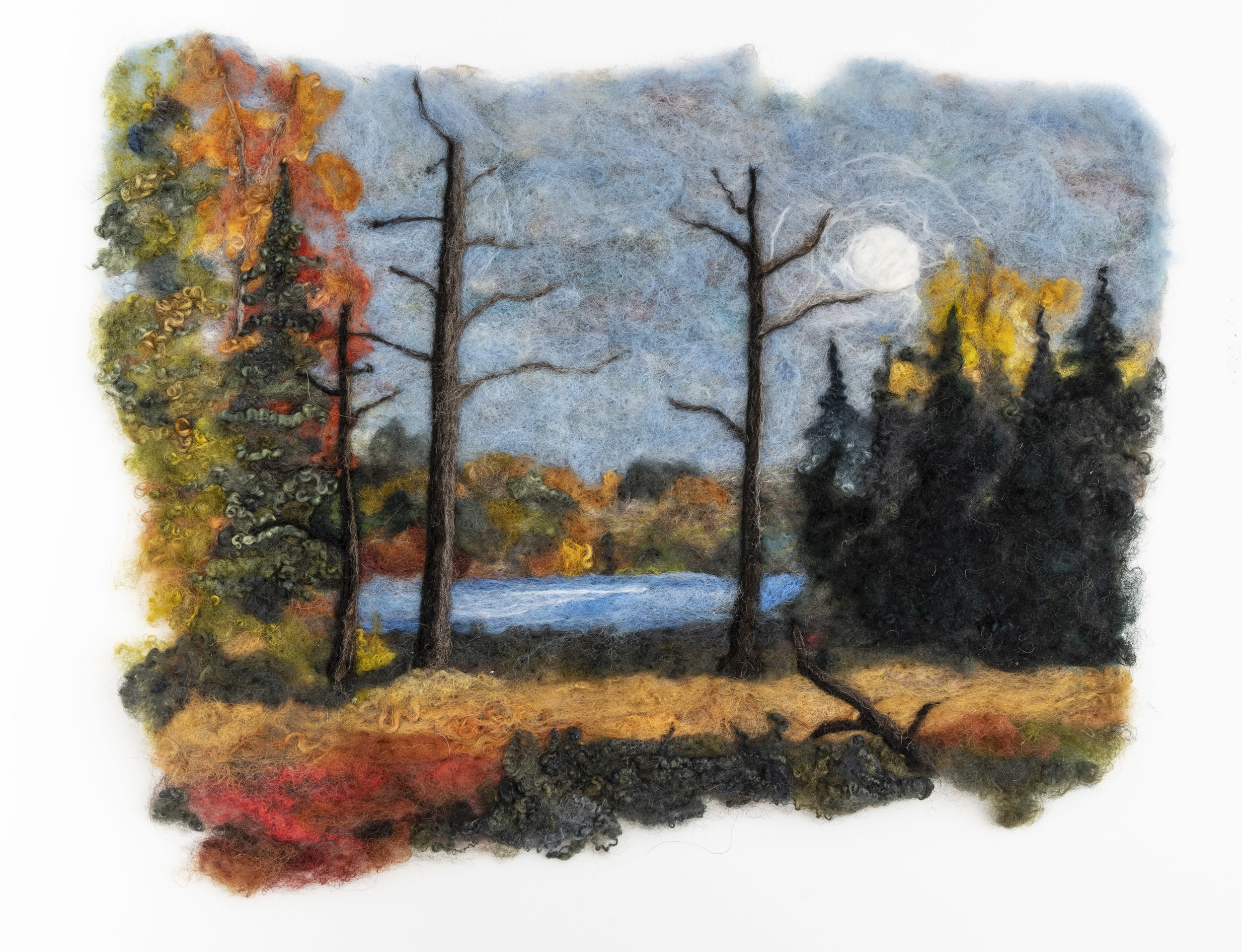 Limberlost   Original SOLD  available in reproductions on pillow, hat, placemat, coaster and card