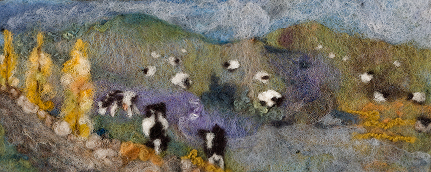 Cows in the field   original SOLD  available in hat and card