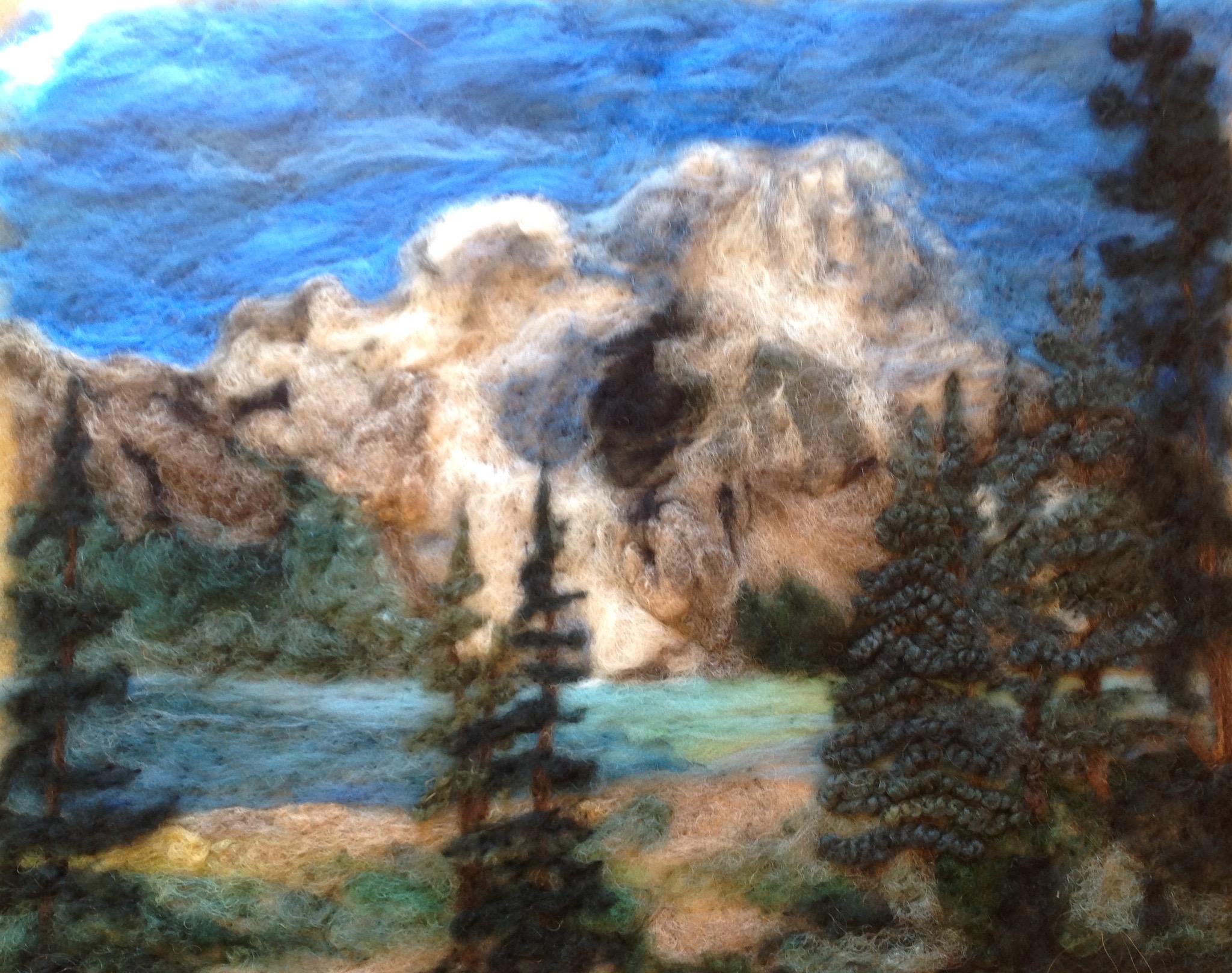 Berg Lake   Commissioned Original  SOLD