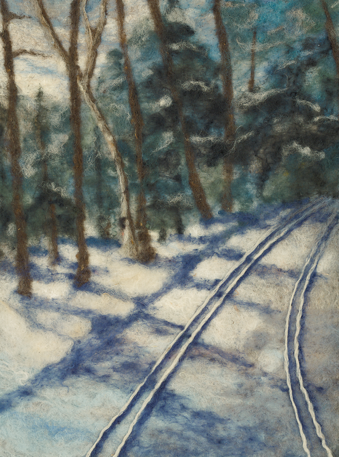 Making Tracks     SOLD  Available in Pillow, placemat, coaster and card