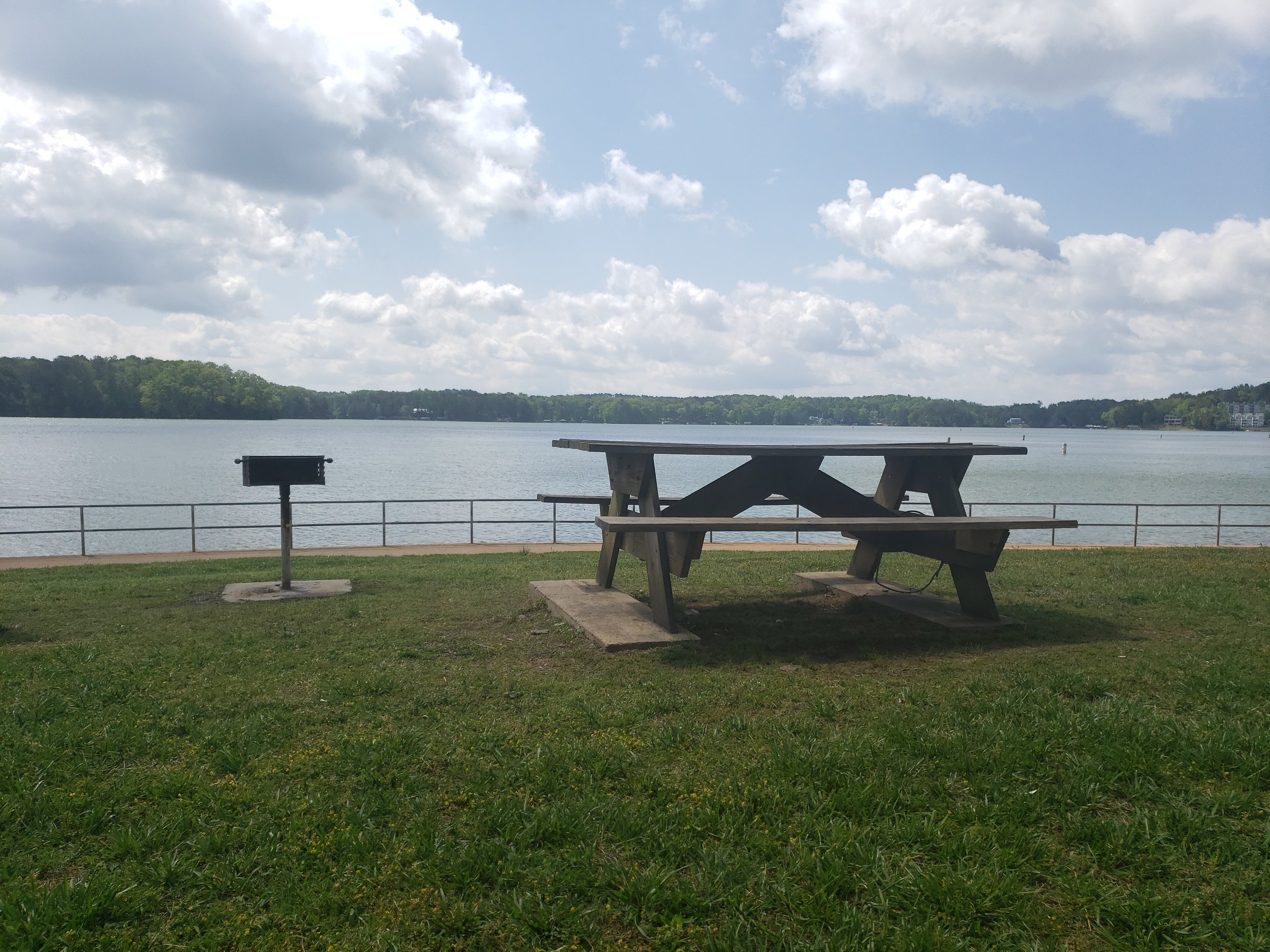 Picnic Tables & Grills - Throughout the park individual picnic tables and grills are available for a lakeside lunch or dinner. Please NO ALCOHOL or PETS ALLOWED in the park.
