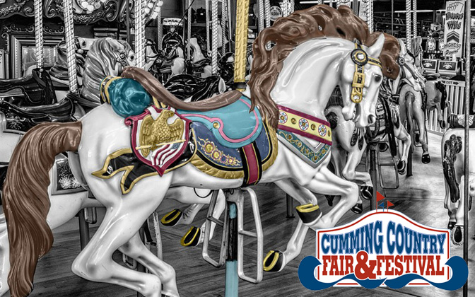 The Cumming Country Fair & Festival is celebrating it's 25th birthday this year! The Fair features live music, free attractions and shows, farm animals, local entertainment, Native Indian and Heritage Village, and carnival eats. The Great James H. Drew Exposition midway – one of the largest carnival midways in the United States, featuring games, rides, and the Georgia Mountain Lift.   WHEN   Thursday, October 3, through Sunday, October 13, 2019 TIMES Monday through Thursday 4 to 10 p.m., Fridays 4 p.m. to midnight Saturdays 10 a.m., to midnight, and Sundays 12:30 p.m. to 9:00 p.m.