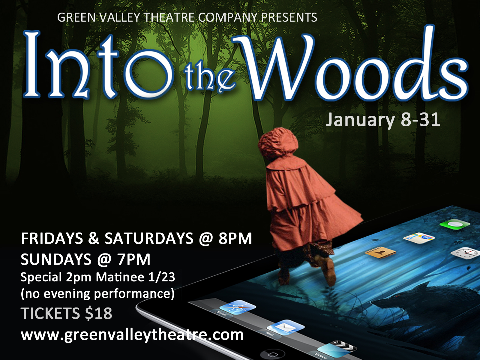 Into the Woods - January 8-31Explore