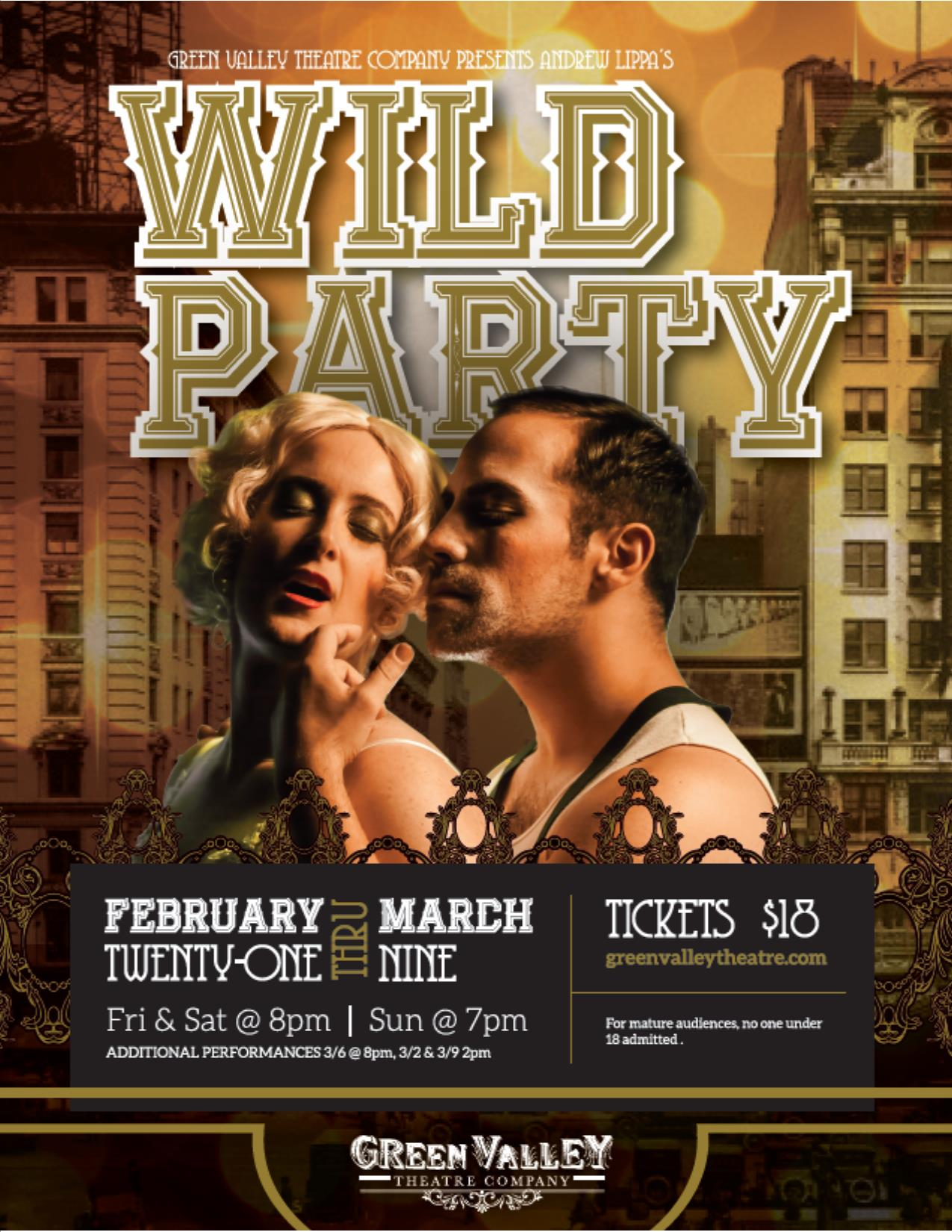 Wild Party - February 21st-March 9thExplore