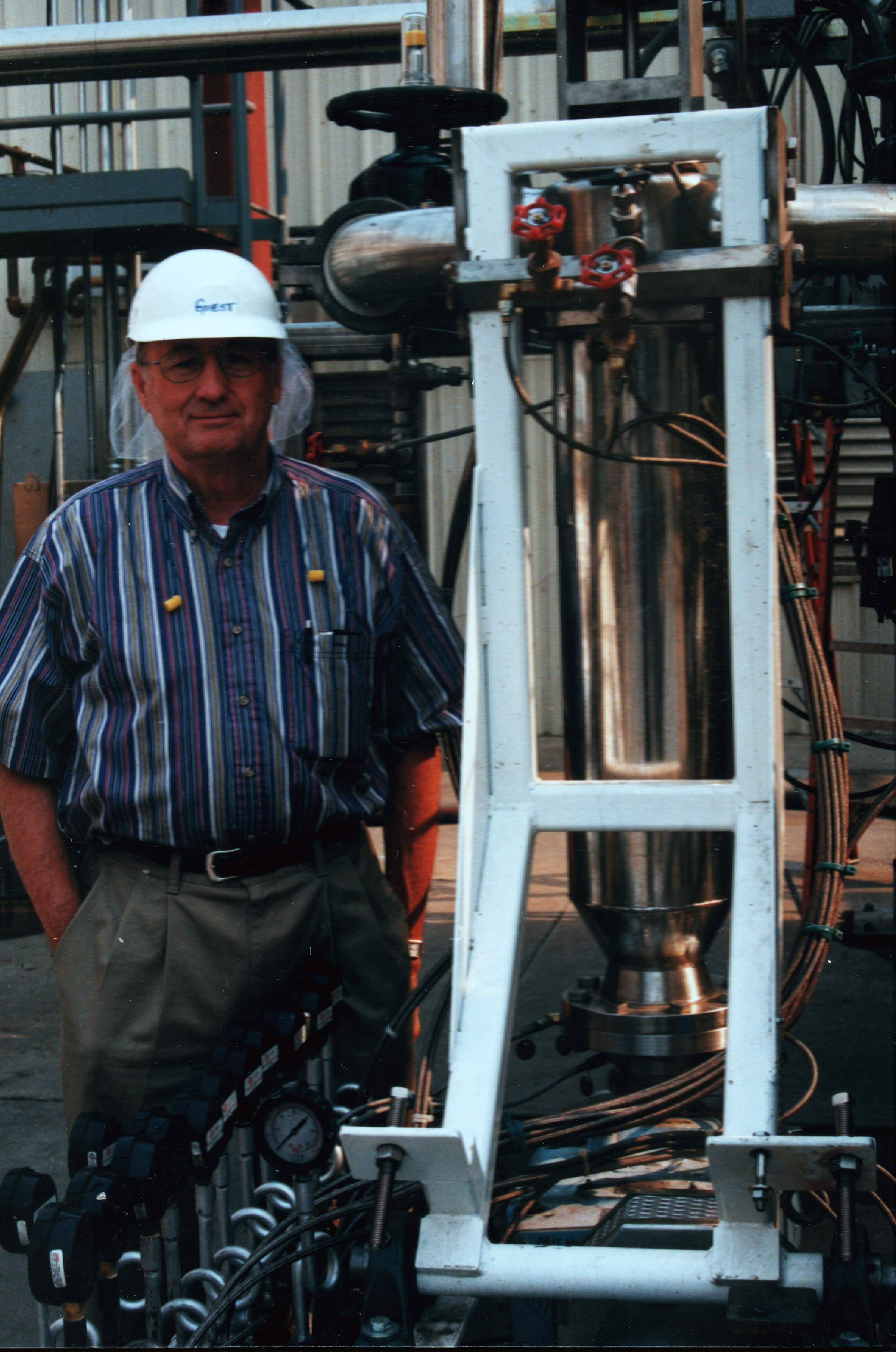 Inventor and Founder, Glenn Spencer, with an aseptic application.