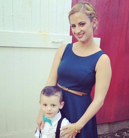 Founder, Madi, and her son