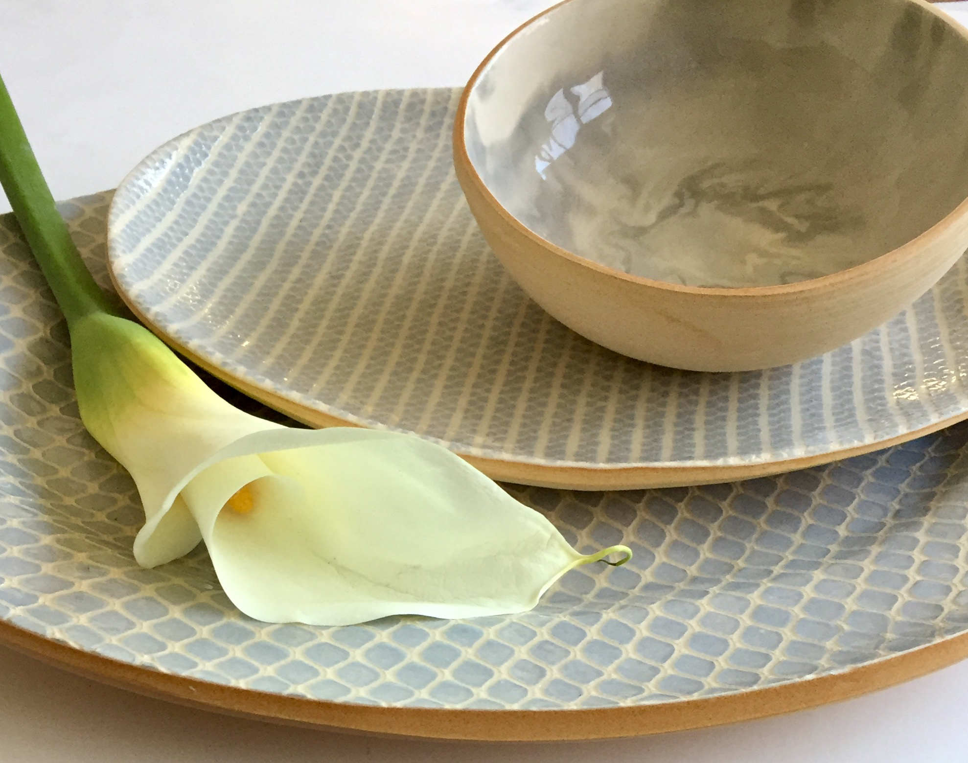 carrara soup bowl, small oval strata opal, med oval taj opal.jpg