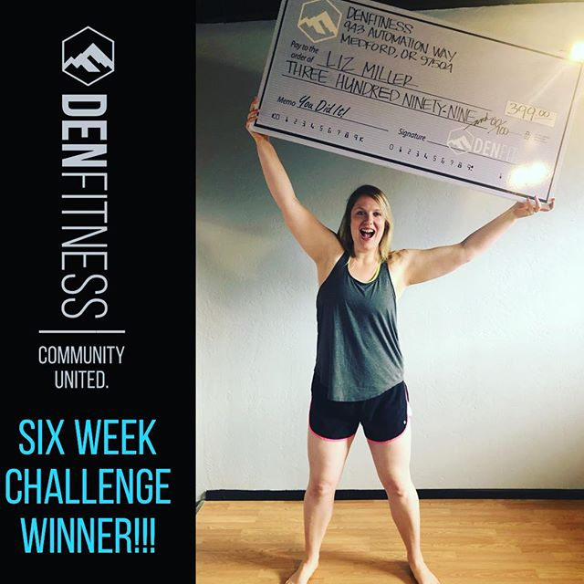 Liz Miller didn't let a little 6-week challenge stand in her way!!! This girl followed the program to the letter and crushed her goals! Way to go, Liz, we are so proud of you and are so happy to have you as part of the #denfit family! #hardworkpaysoff #youearnedit #6weekchallenge #letsgo #transformation #fitness #health #family #gym #bethedifference #denfitness #denfamily #crossfit #denxpress