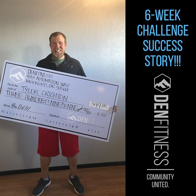Here's another success story from one of our amazing 6-week challenge winners, Tyler Crichton! Way to take this challenge by storm and surpass your goal in record time! We're so proud of you! You're the perfect example of what hard work and dedication can do! Keep up the good work, Tyler!  #hardworkpaysoff #youearnedit #6weekchallenge #letsgo #transformation #fitness #health #family #gym #bethedifference #denfitness #denfamily #crossfit #denxpress