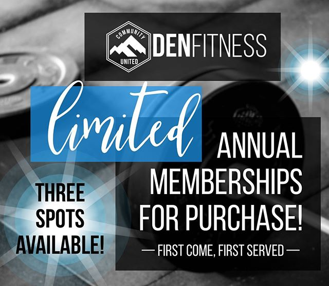 For a limited time (and limited spots) @crossfit_the_den is once again offering a special on annual memberships!!! If you're interested, PM us for details! #denfitness #membershipspecial #committofit #actnowthesegoquickly