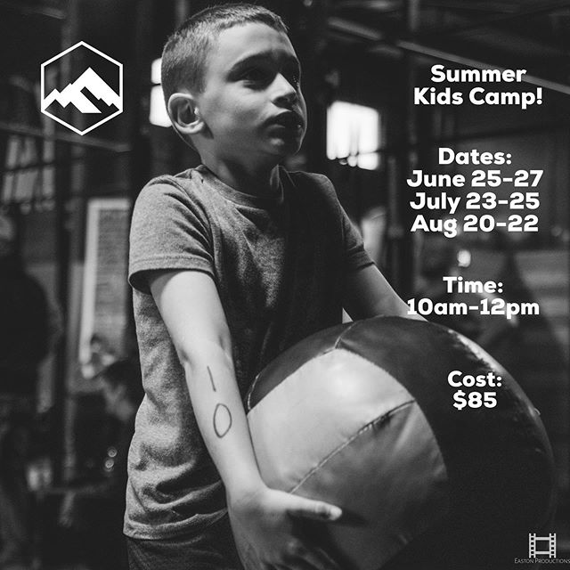 Kids Summer Fitness Camp!!! We are excited to have your kiddos join us for some FUN fitness this summer.  We are focusing on general strength and body awareness while creating an environment to expend energy and have fun.  We are offering three separate three day camps! You can sign up for one week or all three!  Please click on the link in our bio to reserve your spot: DenFitness.wodify.com •Click Class Sessions •Click Summer Camp •Continue with check out •Make sure you add the start date of the Camp you are choosing.  Dates: June 25-27 July 23-25 Aug 20-22  Time: 10am-12pm  Cost: $85 per week