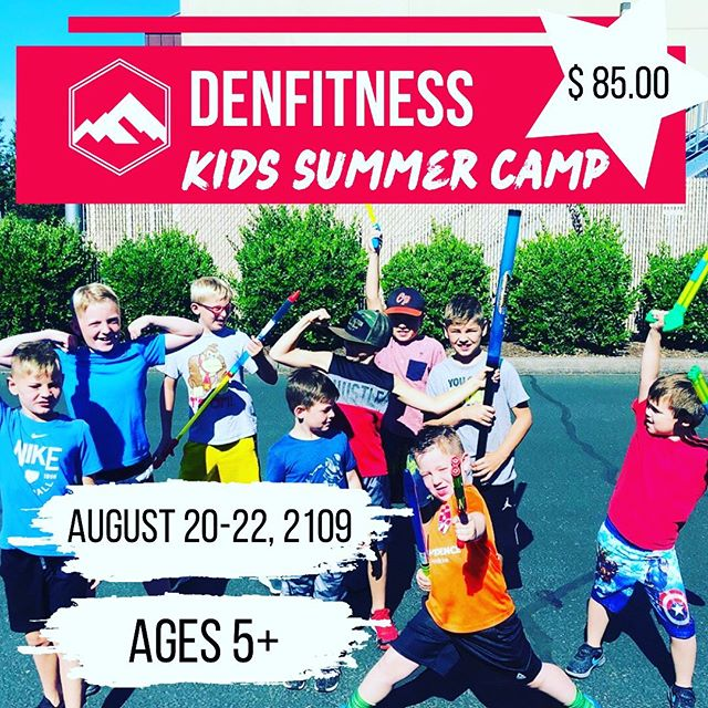 Last Kids Camp ⛺️ of the Summer... Sign Up Today!!! Check out the website: DenFitness.wodify.com, click on session plans, NORTH location, and click on Kids Camp!! You can also just give us a call @ 541.646.7880 and we can help you out with all the details!  Cheers to the last month of Summer ☀️ #fitness #camp #kids #health #fun #denfitness #north #south #waterguns #workout #hardworkpaysoff #summertime