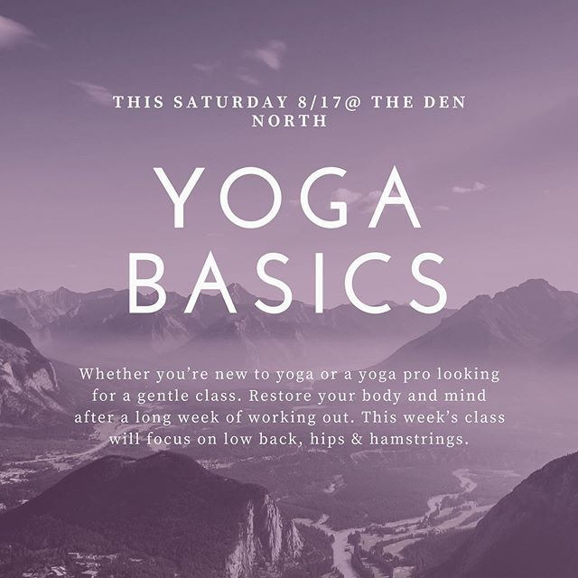 Don't forget this Saturday we are kicking of a new Yoga 🧘‍♀️ series and focus with the amazing @tebosinpnw come join us and kick off the weekend with some sweet NEW Yoga moves... 😎