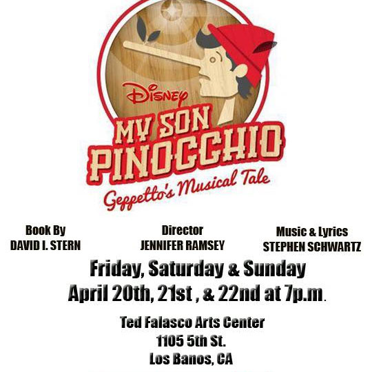 My son Pinocchio Geppetto's musical tale - April, 2018