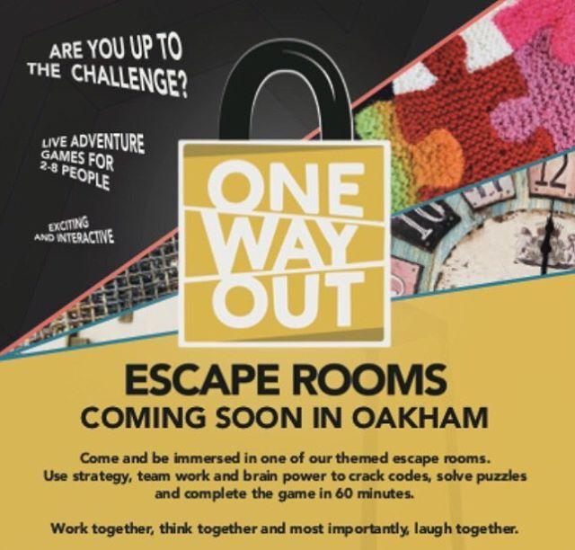 Publicity out. Book now at onewayoutescape.com #escaperoom #escapegames #oakham