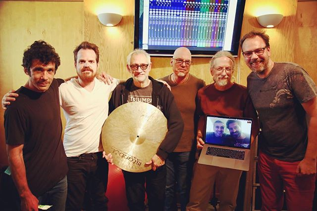 Awesome session with these gentlemen for an upcoming project! Dave Levita, Aaron Sterling, Mark Goldenberg, Jon Gilutin, Jimmy Johnson and Gus Borner.