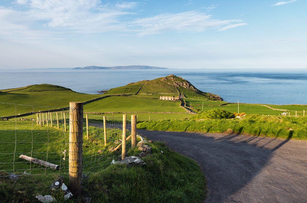 Stunning cycling on Torr Head!