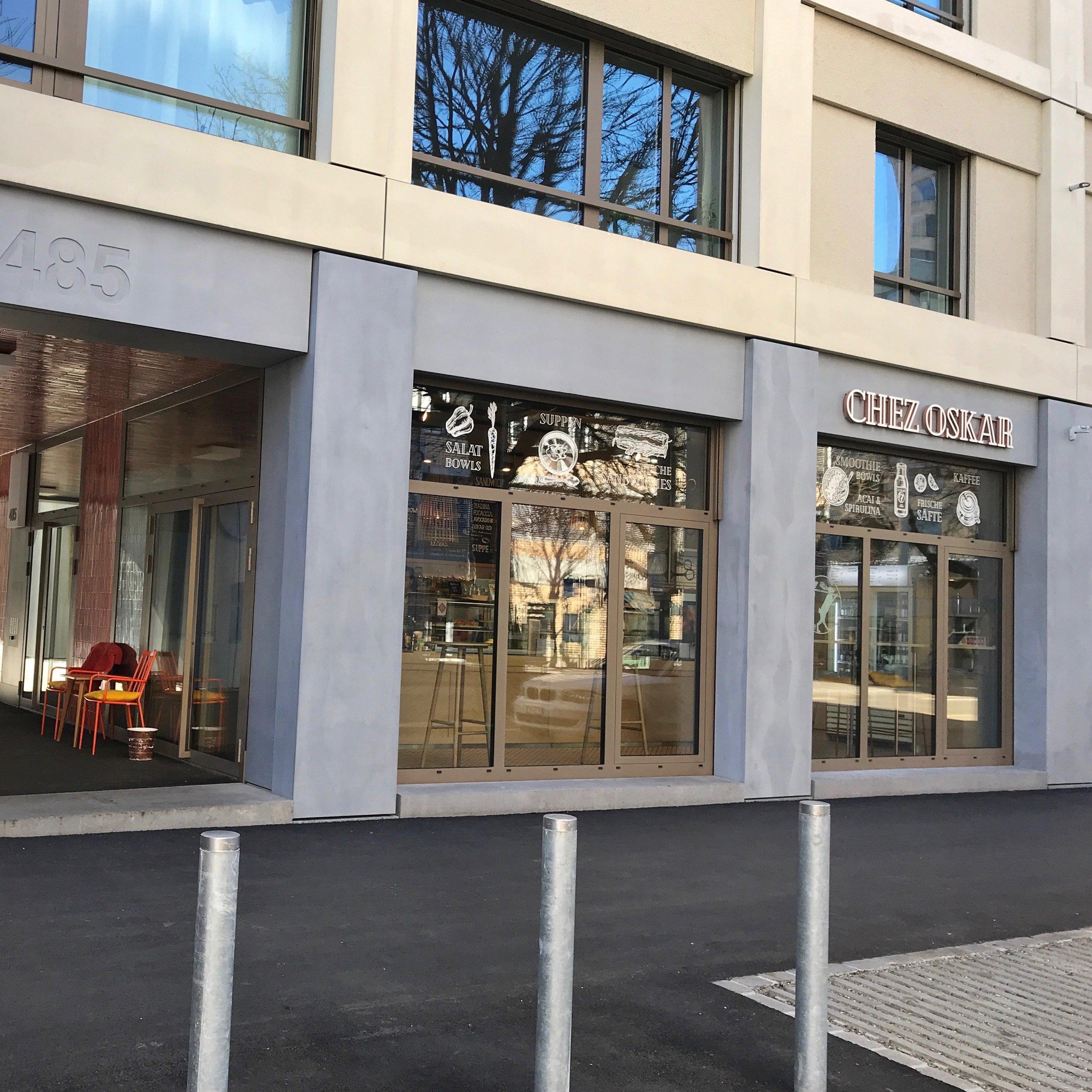 Neulich auf dem Weg nach Altstetten. - Das Chez Oskar ist modern und unkompliziert.