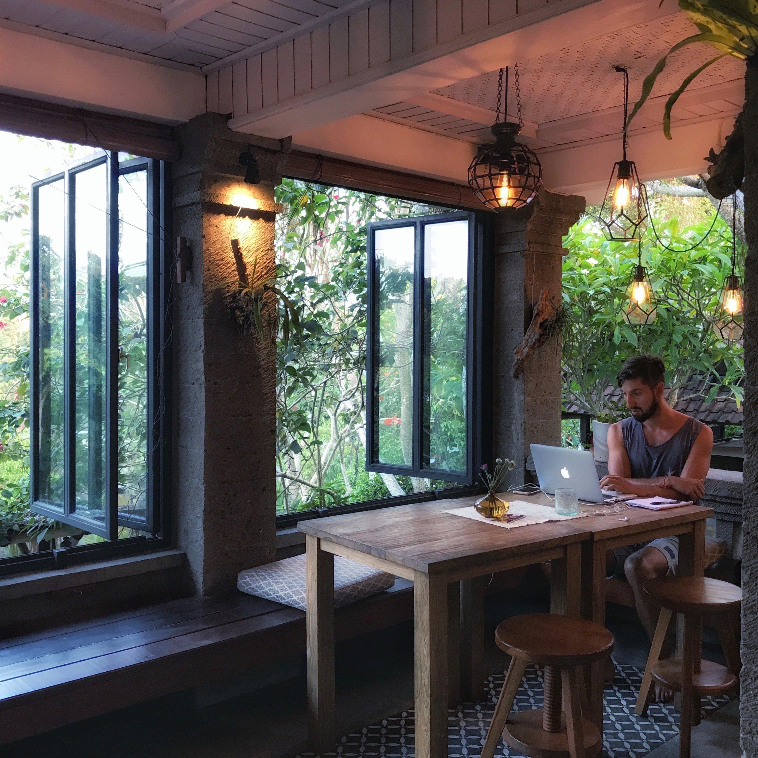Beautiful View from Vegan Restaurant Zest Ubud