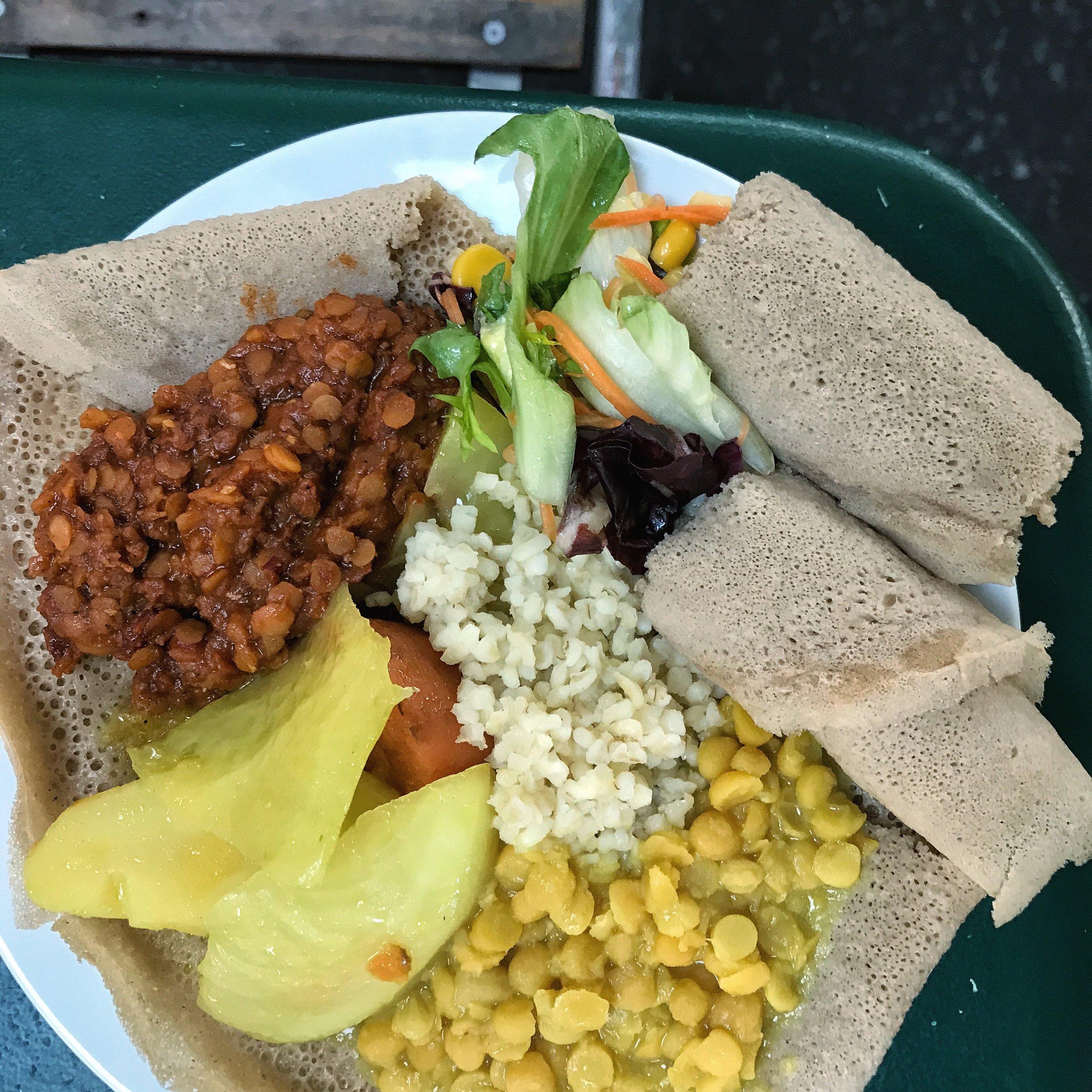Vegan Ethiopian Food Markthalle Basel