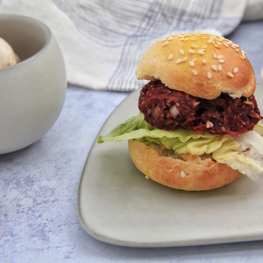 Raw vegan Mushroom Burger Pattie
