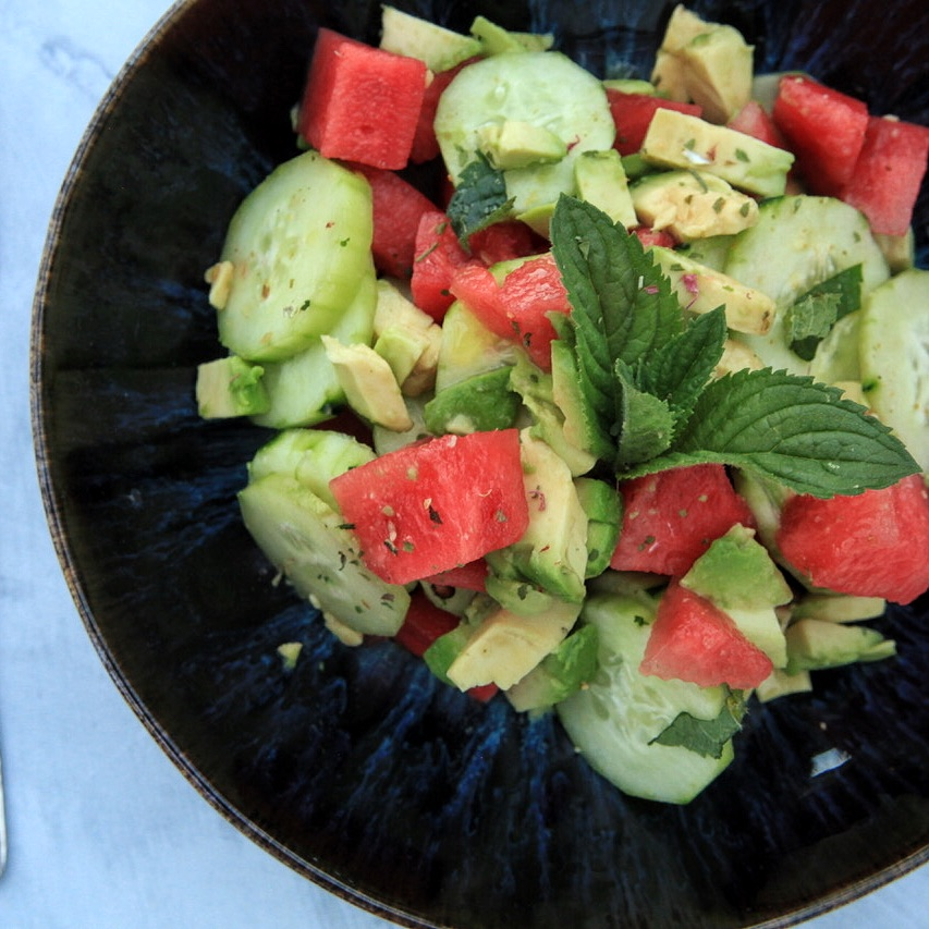 Pegan Summesalad with Watermelon