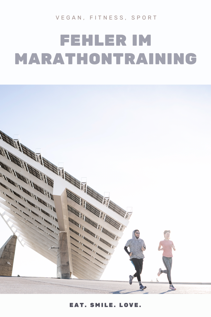 Vegan, Fitness und Sport. Fehler im Marathontraining.