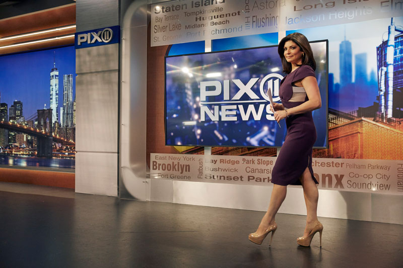 Tamsen at the PIX 11 News station