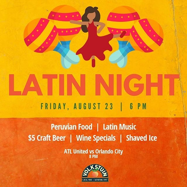 Join us for LATIN NIGHT this Friday! Put on your dancing shoes and get ready to have a great time 💃 . . #latinnight #atlantaevents #atlantanightlife #eatlocal #urbanfarm #urbanfarming #healthyhappylife #nourishyourself #dailyfoodfeed #liveauthentic #georgiagrown #farmtotable #farmtoface #freshfood #freshproduce #localgoods #austell #cobbcounty #farmersmarket #volkstuin #craftbeer #supportlocal #shoplocal #exploregeorgia #austellga #atlantassweetspot