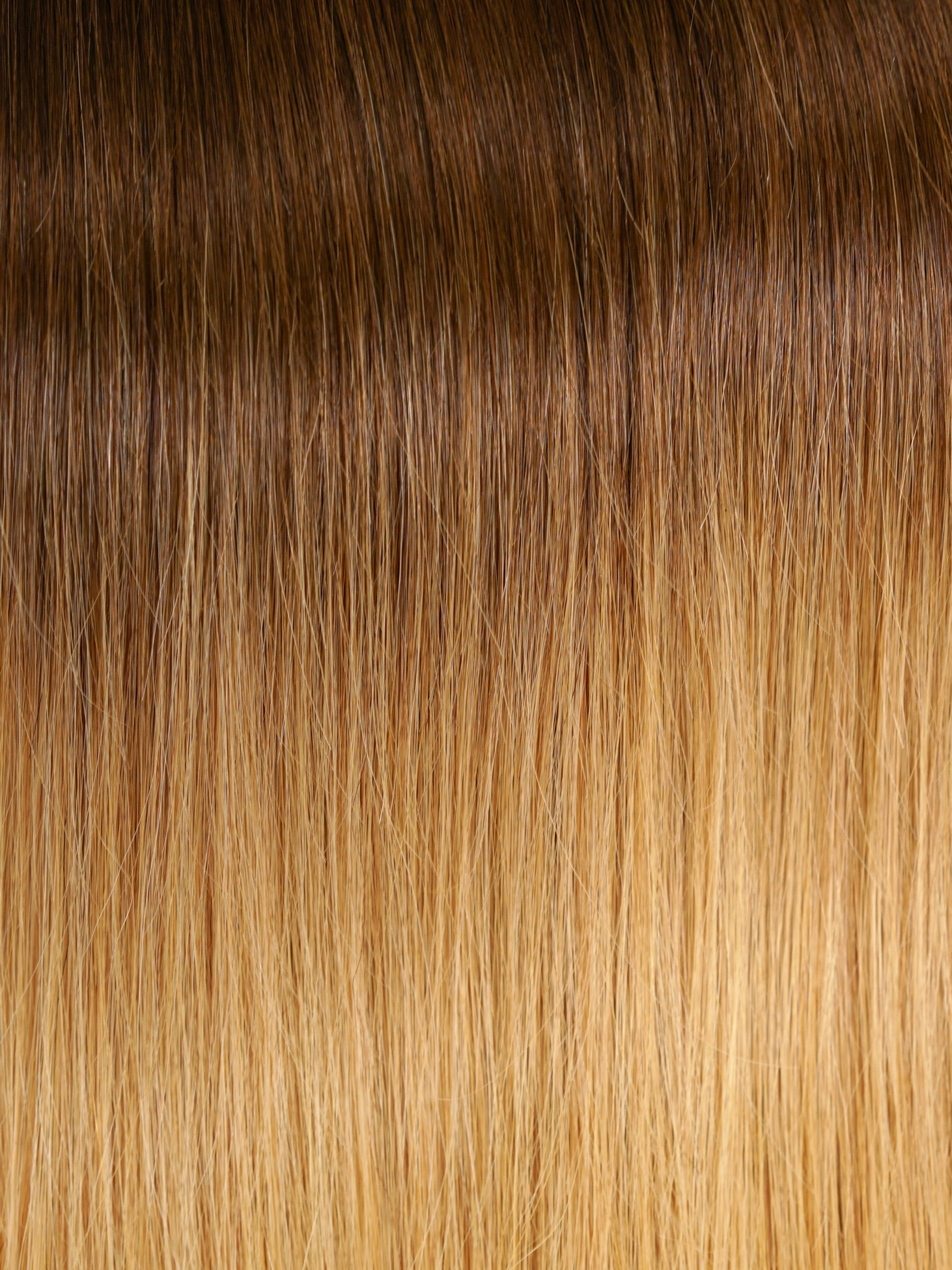 Honey Blonde BALAYAGE #T4/15 - This set utilizes three transition points from a deep dark to a medium brown, ending in a bright golden blonde to provide a dramatic, yet seamless look.