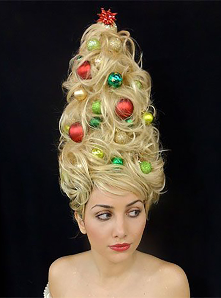 Over-the-top Christmas Hairstyles