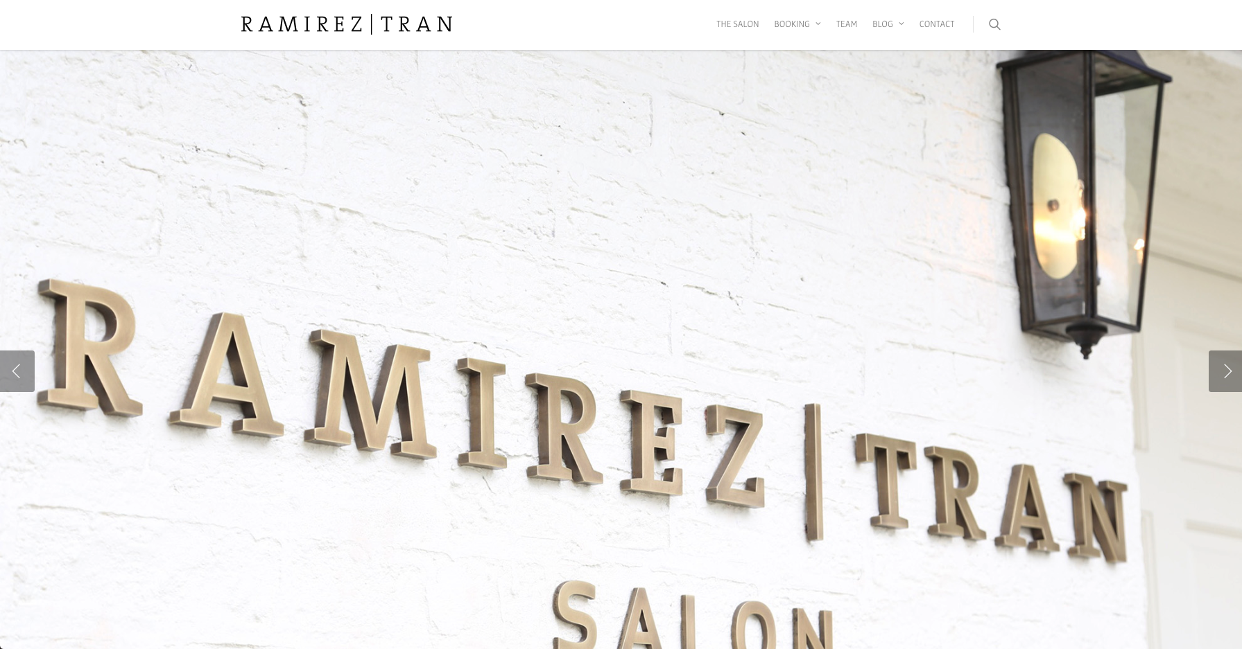 This salon's website is pleasing to the eye and does a really good job of highlighting their stylists.