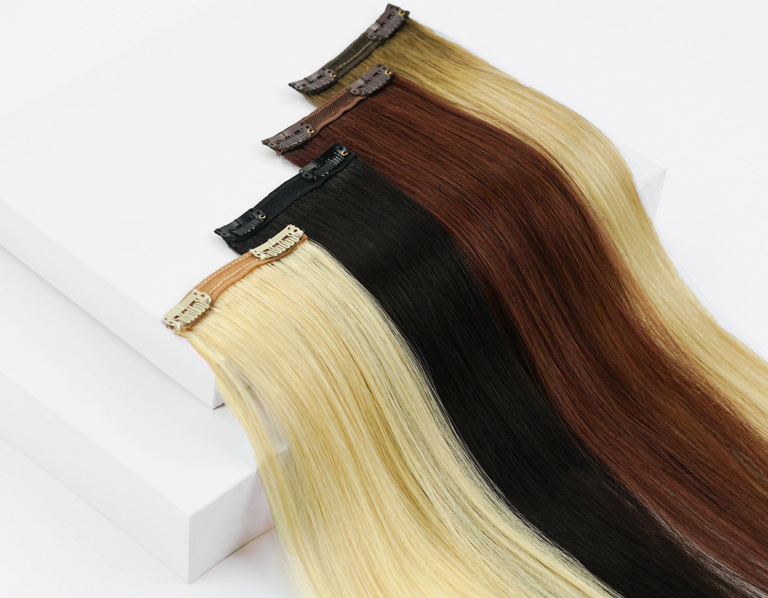 Joi Clip-Ins - Lengthening and thickening the overall look of your hair is a cinch with our clip-in hair extensions. Our clip-in weight varieties are perfect for any hair density, helping most girls achieve the hair of her dreams.