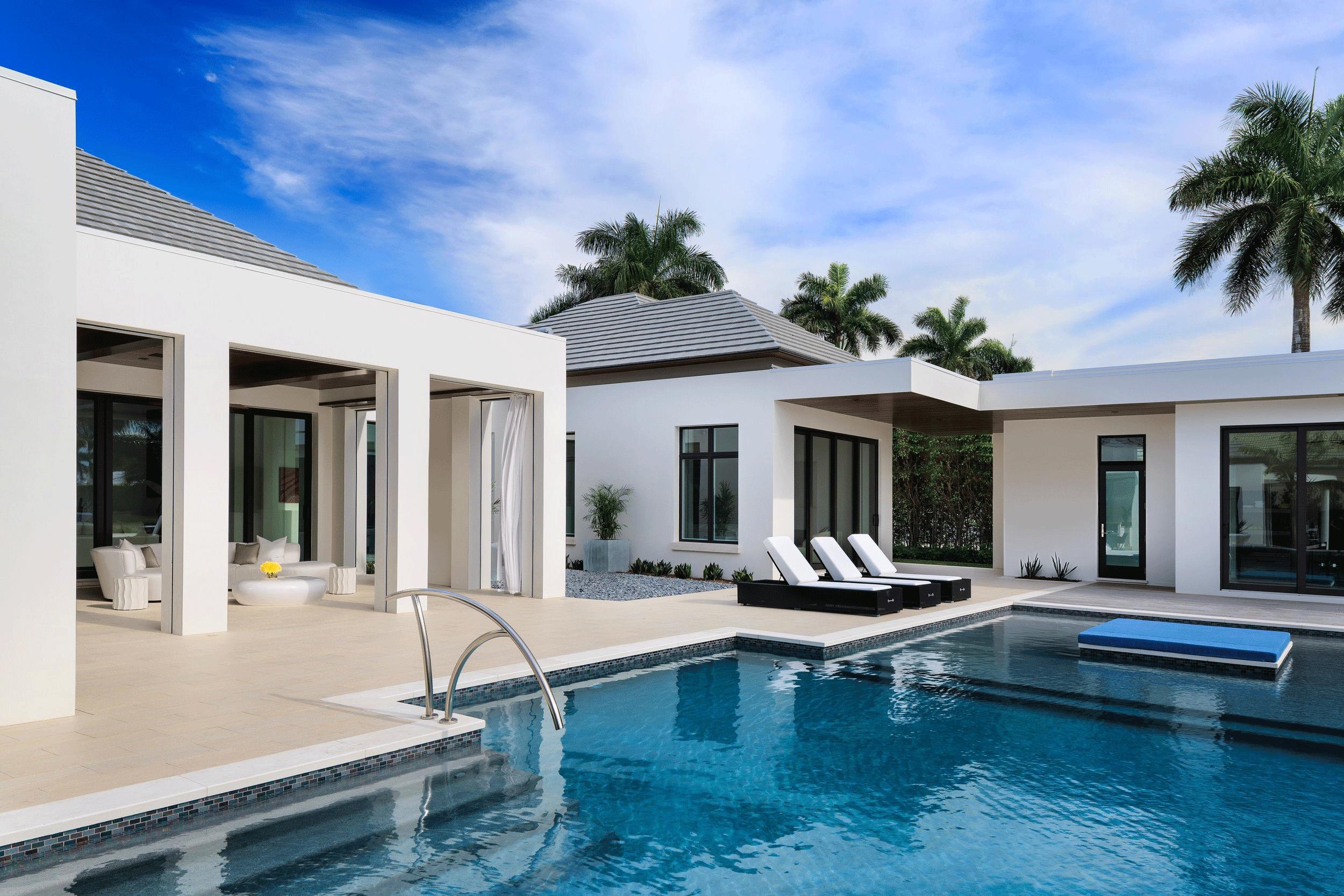 Naples Residence // Rear Pool Terrace