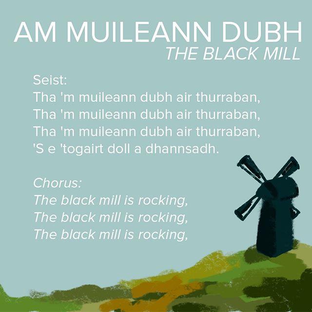 Seo agaibh an dàrna òran bhon leabhar bheag bhuidhe. Deagh phort à beul a th' ann - 'Am Muileann Dubh' no 'Tha Nead na Circe Fraoich'. Èist ris air Tobar an Dualchais http://ow.ly/3rQC50lY2vb  Here is the second song from the wee yellow book. A popular port à beul - 'The Black Mill' or 'The Moorhen's Nest'. #anlochran #gaelic #gaidhlig #ceol #IYIL2019 #ceilidh